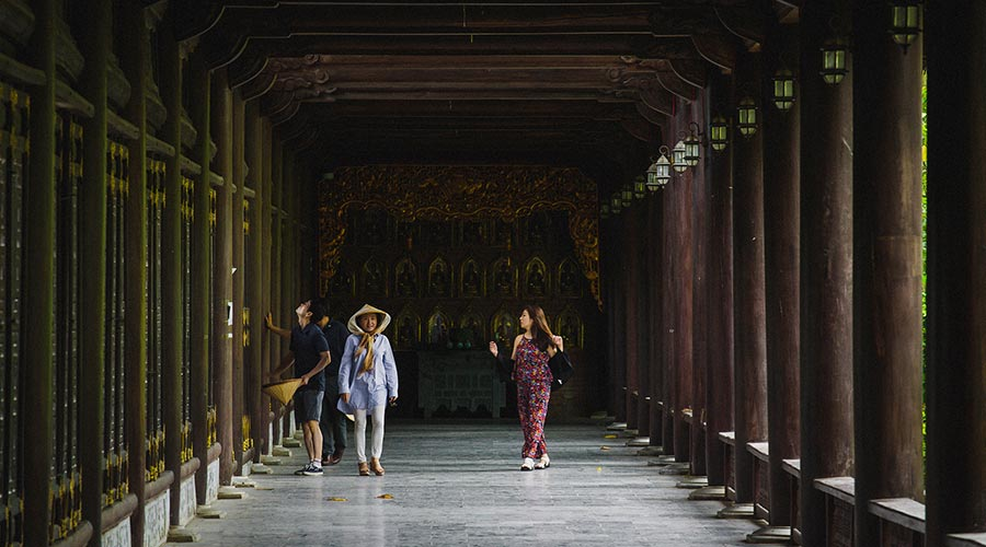 Bai Dinh temple from the inside