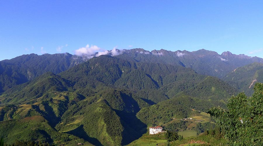 beautiful view from Fansipan