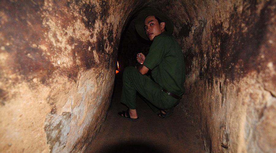 crawling through the Cu Chi tunnels