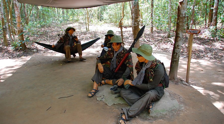 Dolls at the Cu Chi Tunnels