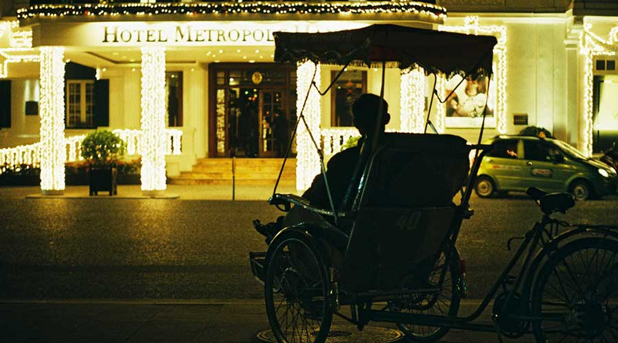 Evening cyclo tour Hanoi