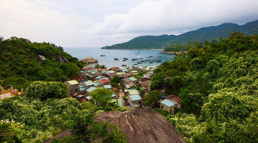 fishing village on Cham Island Vietnam