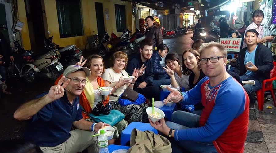 street food in Hanoi tour