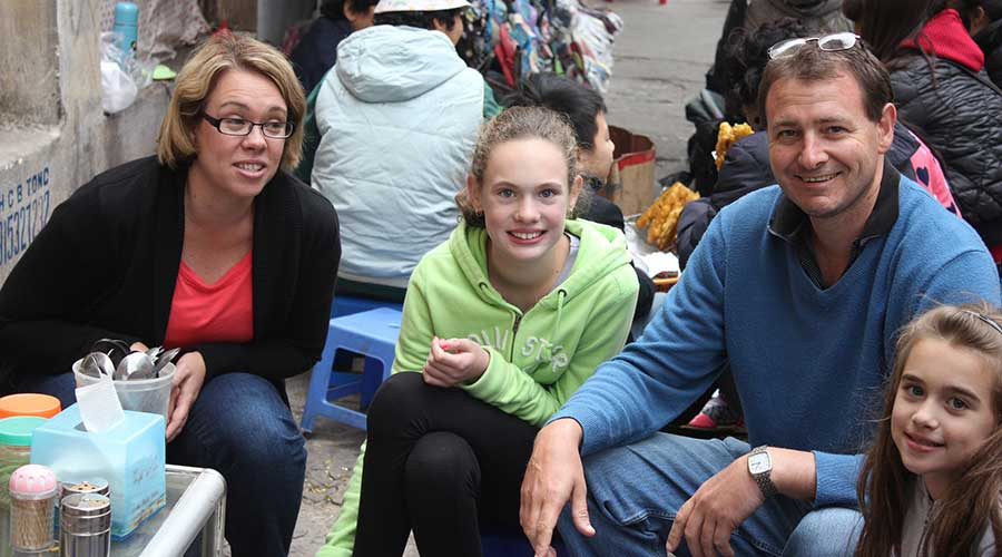 street food tour with childeren