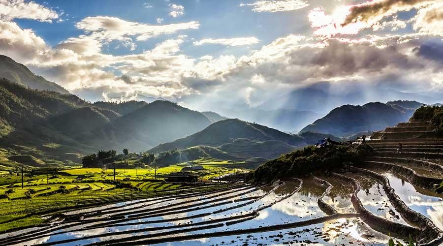 Ta Giang Phinh near Sapa Vietnam