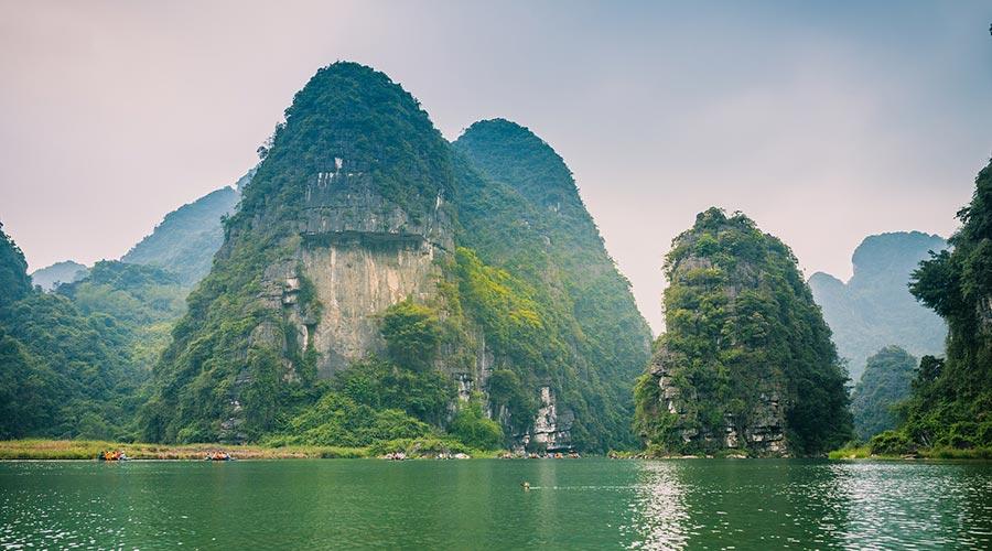 Trang An limestone rocks