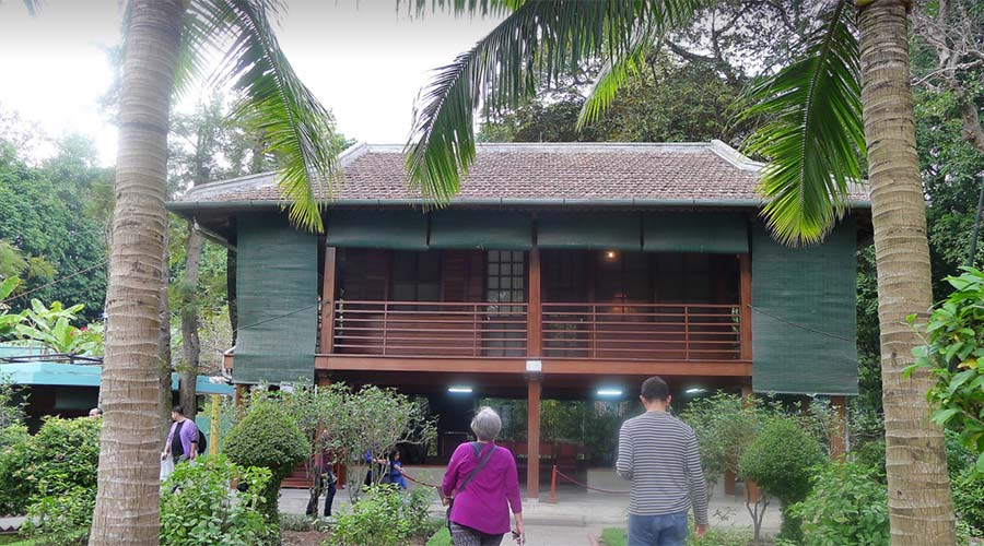 Uncle Ho's house in Hanoi
