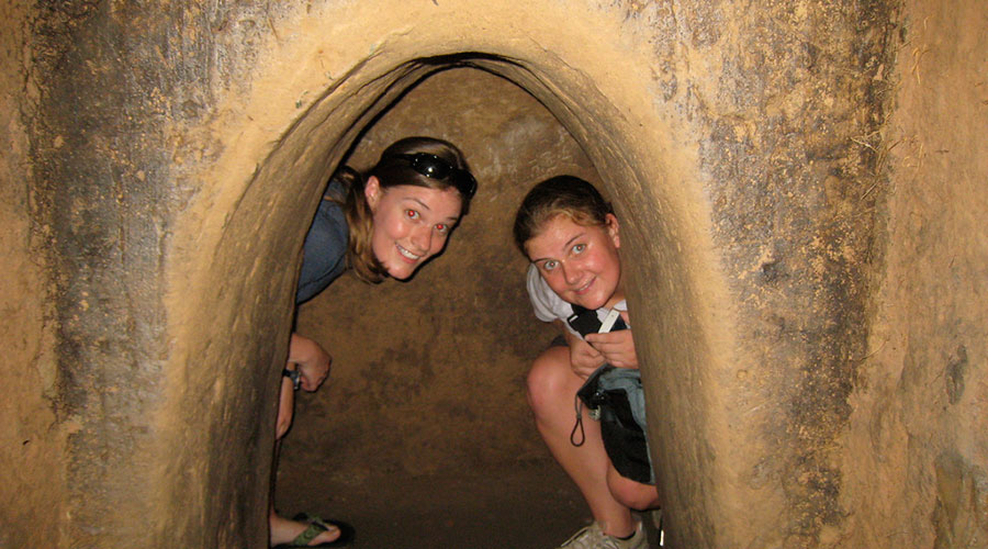 underground Cu Chi tunnel network