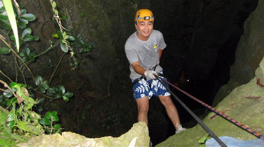 Abseiling in Danang at the Marble Mountains