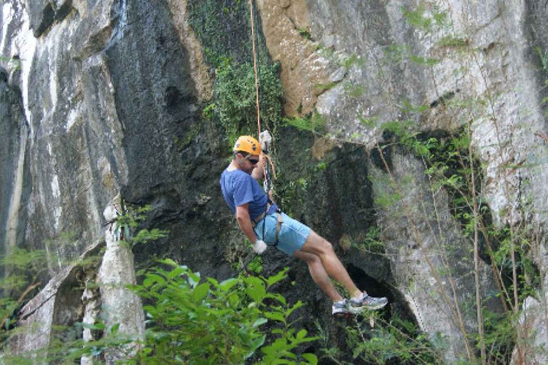 Abseiling and rappelling from the Marble Mountains