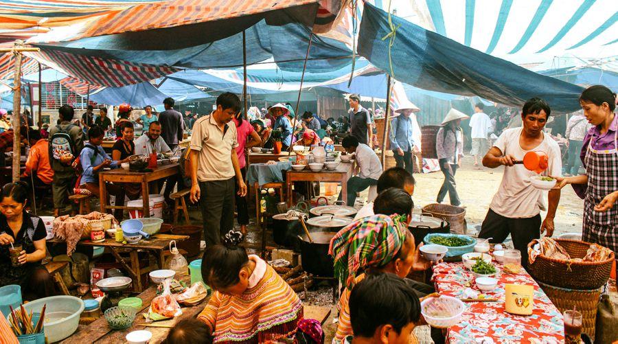Bac Ha food area