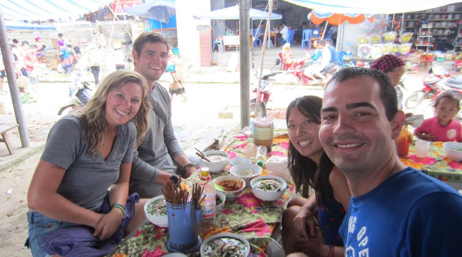 lunch at Bac Ha market