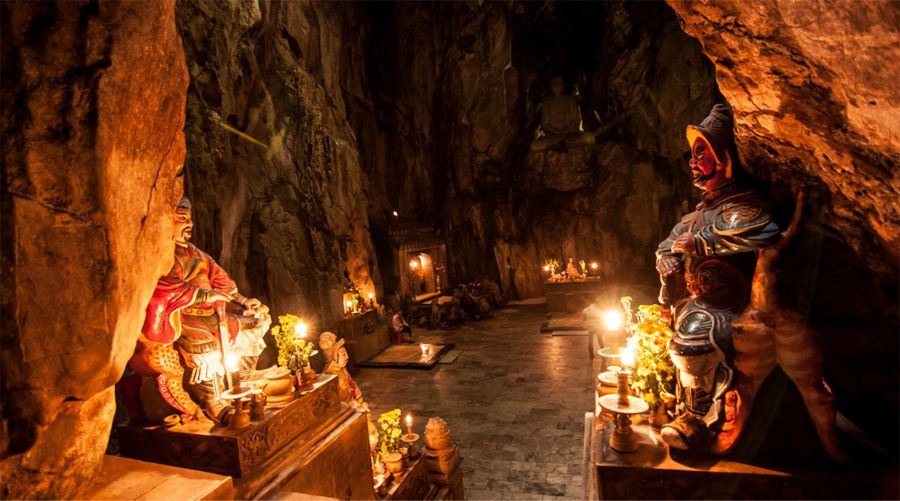 marble mountain temple cave