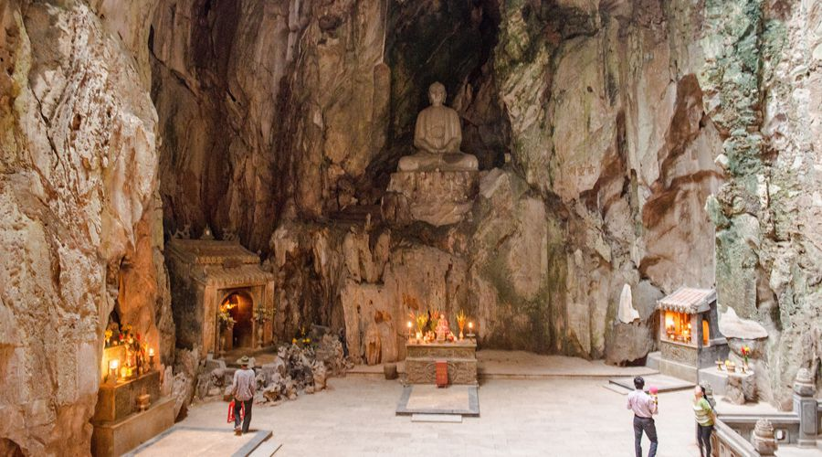 Marble Mountains temples in cave