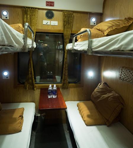 cabin in sleeper train from Hanoi to Lao Cai (Sapa)