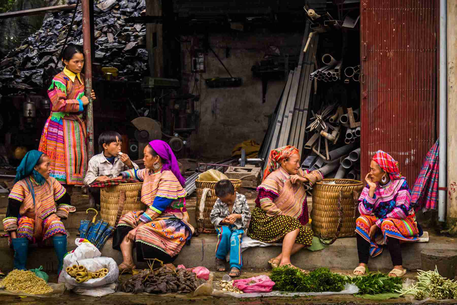 Tour Bac Ha Market in Vietnam
