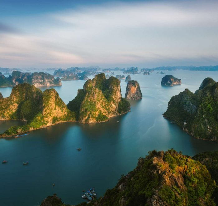 Bai Tho Mountain in Halong Bay